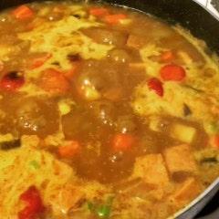 우리쌀 카레) 가지와 콩, 토마토가 듬뿍 우리쌀 카레