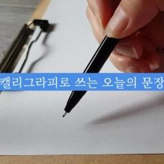 캘리그라피로 쓰는 오늘의 문장/ 좋은 글귀는 손글씨로 저장~