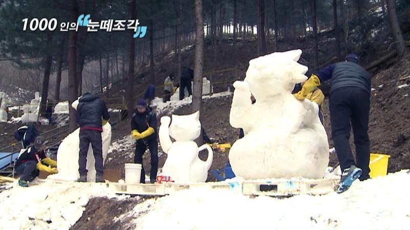 2014 양주눈꽃축제 '1000인의 눈떼조각'