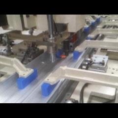 압출재(Al6063) 광폭판 (8000mmX1500X3T) 마찰교반용접 진행 동영상