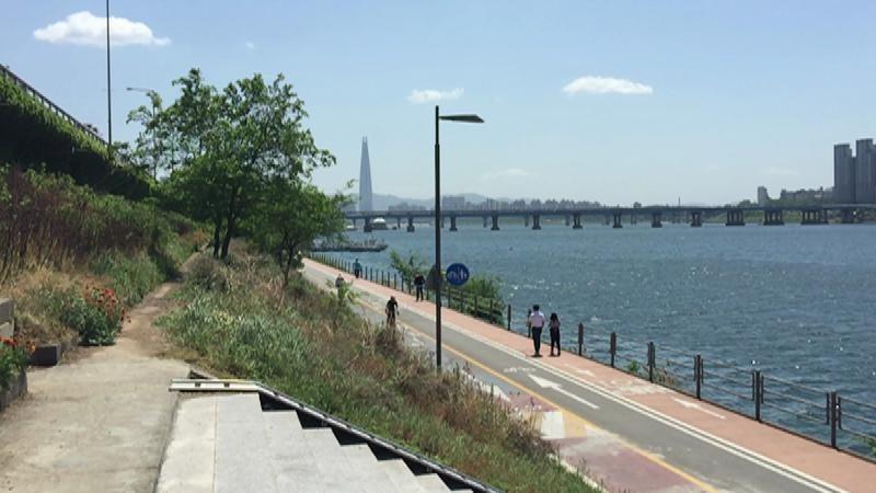 청명한 날씨 한강이 맑은 서울