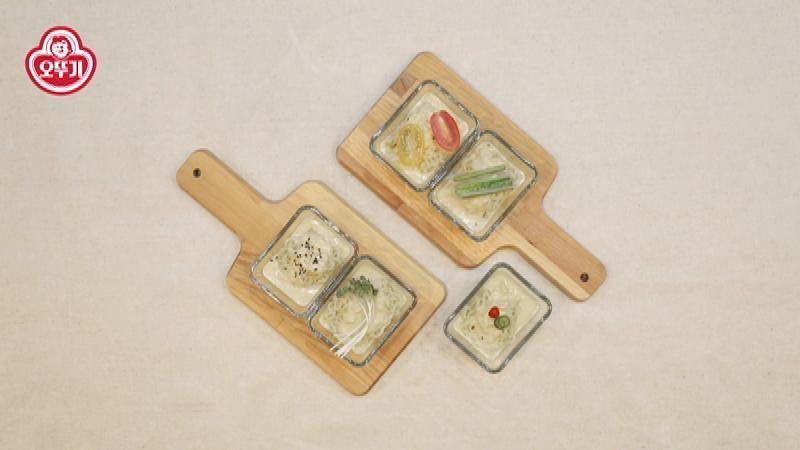 다양한 고명으로 즐기는 각양각색의 콩국수라면 타파스!
