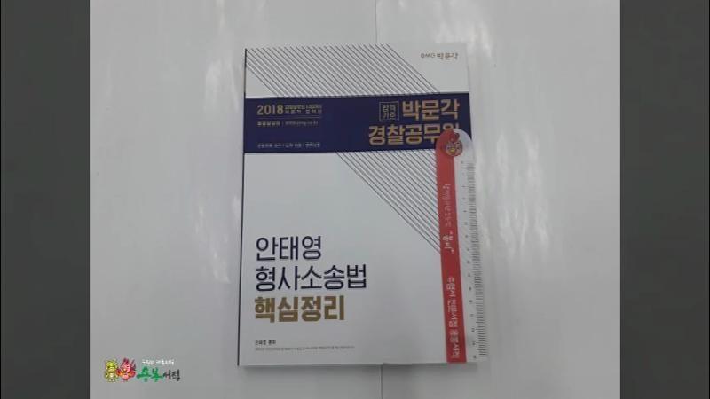 (안태영 형소법)2018 안태영 형사소송법 핵심정리,안태영,박문각