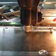 [동영상] 마찰교반용접 - 알루미늄 백킹플레이트